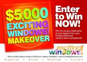 $5000 Custom Drapery and Window Shade Sweepstakes