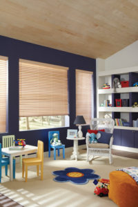 Parkland® Wood Blinds in the Kids Room