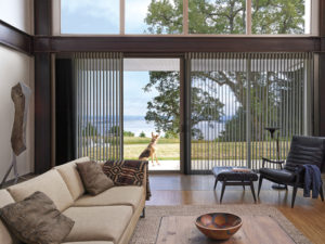 Luminette® Privacy Sheers on Sliding Door