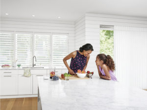 Luminette® Privacy Sheers in the Kitchen