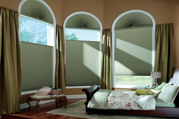 Duette® Honeycomb Shades in the Bedroom
